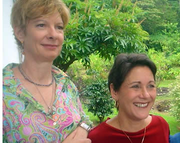 Elizabeth Worley and Dinanne Heidke, your hosts at Finca Luz in Boquete, Panama